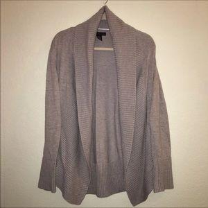 JOAN VASS Sz XL Gray Cardigan Sweater